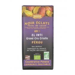 Bio hořká čokoláda s kakaovými boby 69% kakaa 100g EL INTI