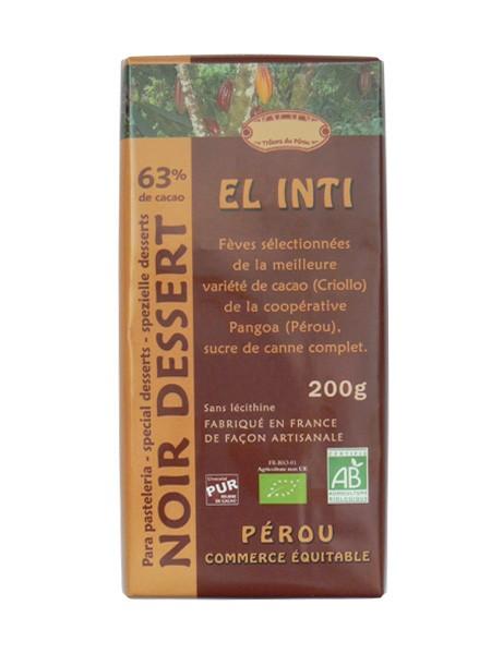 Bio hořká čokoláda Čokoládový dezert 63% kakaa 200g EL INTI