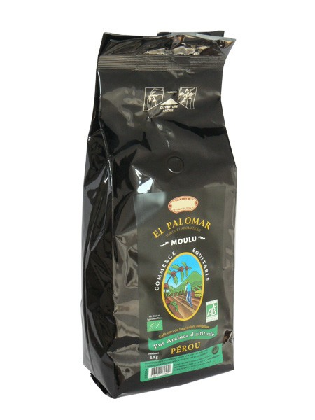 BIO mletá káva EL PALOMAR 100% arabica 1 kg