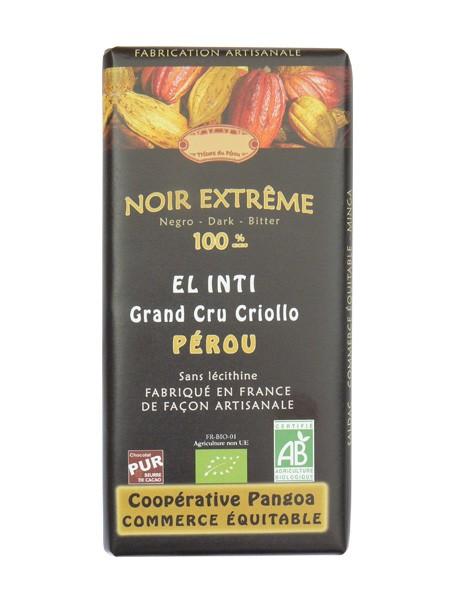 Bio hořká čokoláda 100% kakaa 100g EL INTI