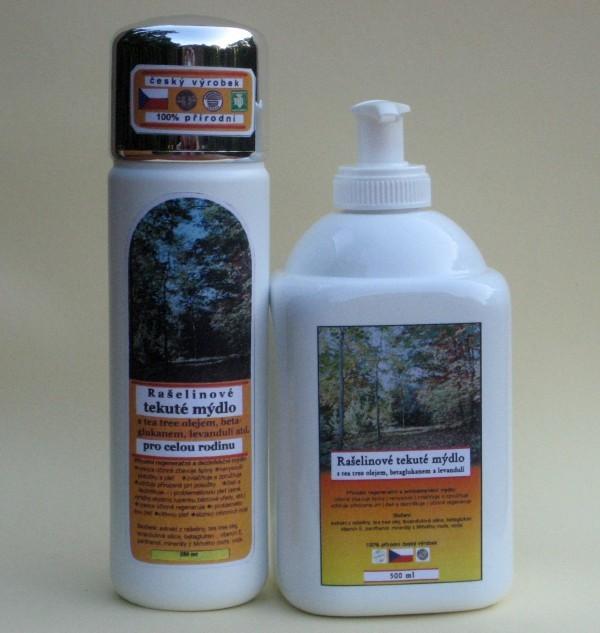 Rašelinové tekuté mydlo 250 ml a 500 ml s dávkovačom